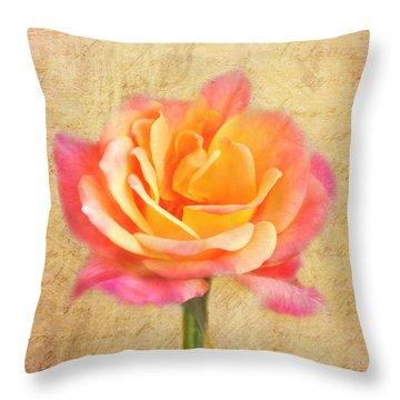 Love Letter Throw Pillow by Jai Johnson
