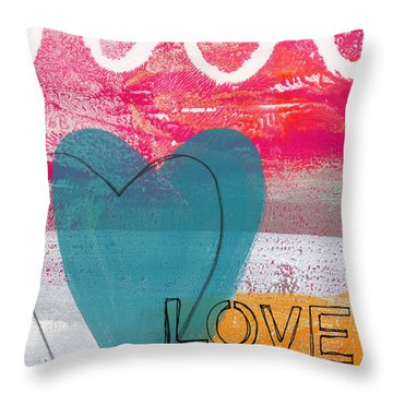 Love Life Throw Pillow by Linda Woods