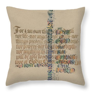 Love Of God Throw Pillow by Judy Dodds