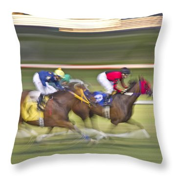 Love Of The Sport Throw Pillow by Betsy Knapp