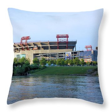 Lp Field Nashville Tennessee Throw Pillow by Kristin Elmquist