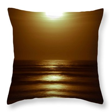 Lunar Tides I Throw Pillow by DigiArt Diaries by Vicky B Fuller