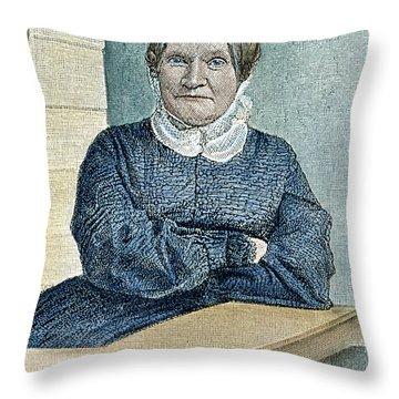 Lydia Maria Child (1802-1880) Throw Pillow by Granger