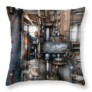Machinist - My Really Cool Job Throw Pillow by Mike Savad