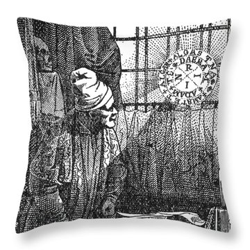 Macrocosm Appearing To Doctor Faustus Throw Pillow by Science Source