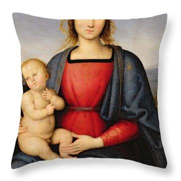 Madonna And Child Throw Pillow by Pietro Perugino