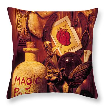 Magic Things Throw Pillow by Garry Gay