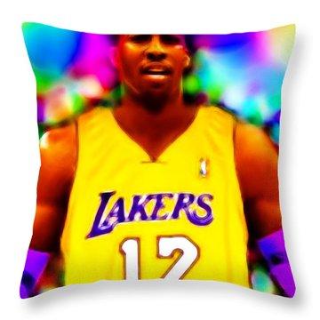 Magical Dwight Howard Laker Throw Pillow by Paul Van Scott