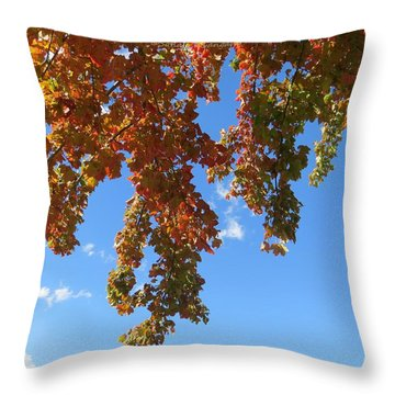Magical Mother Nature Throw Pillow by Sonali Gangane