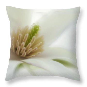 Magnolia Throw Pillow by Silke Magino