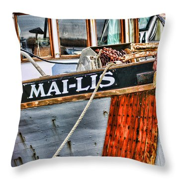 Mai-lis Tug-hdr Throw Pillow by Randy Harris