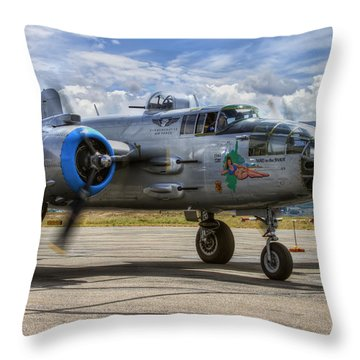 Maid In The Shade Throw Pillow by Brad Granger