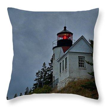 Maine Lighthouse Throw Pillow by John Greim