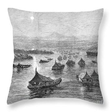 Malaya: Perak River, 1876 Throw Pillow by Granger