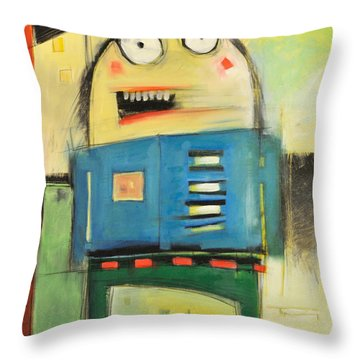 Mall Cop Throw Pillow by Tim Nyberg