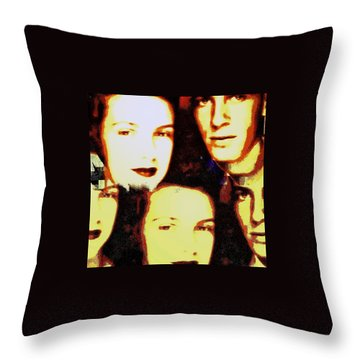 Many Faces Of Betty And Allen Throw Pillow by Marian Hebert