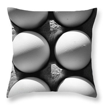 Many Moons Throw Pillow by Luke Moore