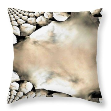 Marble Abstract Throw Pillow by Maria Urso