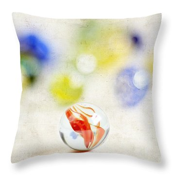 Marbles Throw Pillow by Darren Fisher