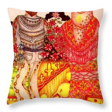 Mariachi Wedding Throw Pillow by Dede Shamel Davalos