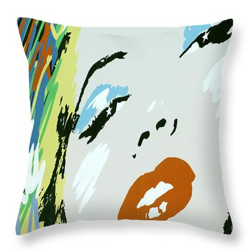 Marilyn In Hollywood Throw Pillow by Micah May