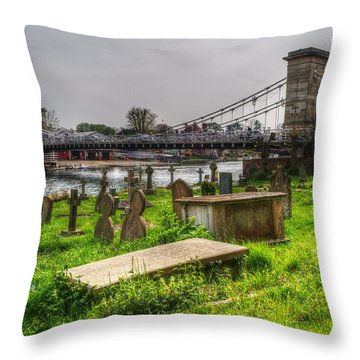 Marlow Bridge From All Saints Graveyard Throw Pillow by Chris Day