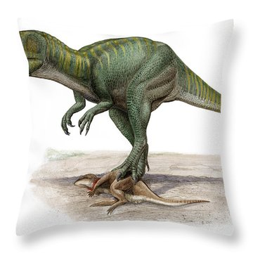 Marshosaurus Bicentesimus Throw Pillow by Sergey Krasovskiy