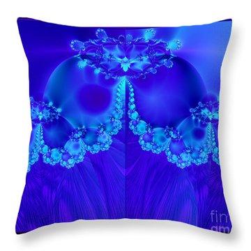 Marys Veil Fractal 60 Throw Pillow by Rose Santuci-Sofranko