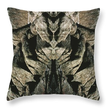 Masked Rock God Of Ogunquit  Throw Pillow by Nancy Griswold