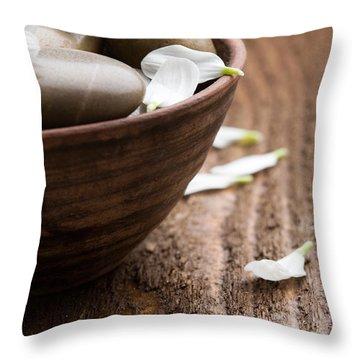 Massage Stones  Throw Pillow by Kati Molin