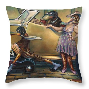 Maybe Maybe Not Throw Pillow by Patrick Anthony Pierson