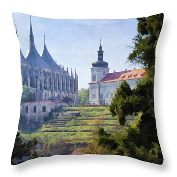 Medieval Throw Pillow by Joan Carroll
