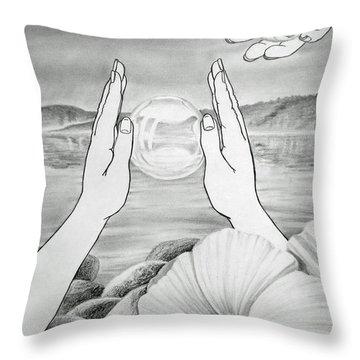 Meditation  Throw Pillow by Irina Sztukowski