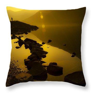 Meeting The Sun Throw Pillow by Svetlana Sewell