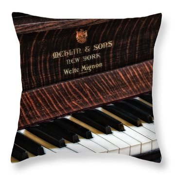 Mehlin And Sons Piano Throw Pillow by Susan Candelario