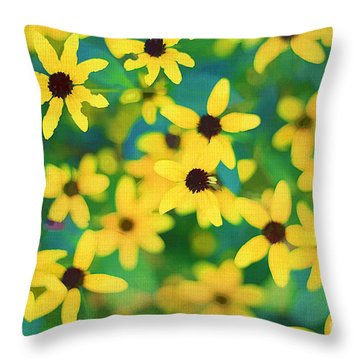 Melody Of Yellow Throw Pillow by Darren Fisher