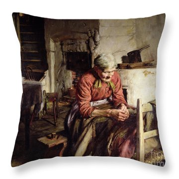 Memories Throw Pillow by Walter Langley