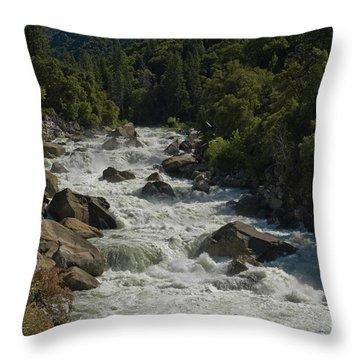 Merced River In Yosemite Throw Pillow by Tim Mulina