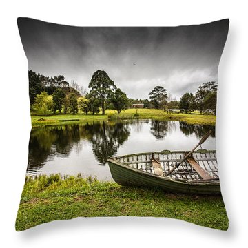 Messing About In A Boat Throw Pillow by Avalon Fine Art Photography