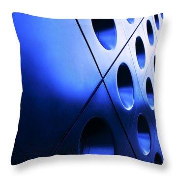 Metallic Background Throw Pillow by Jane Rix