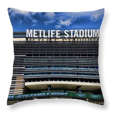 Metlife Stadium Throw Pillow by Paul Ward