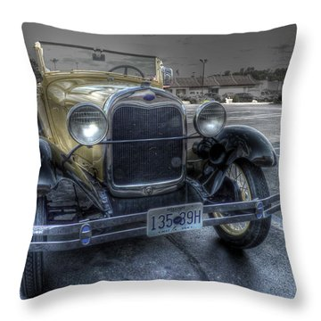 Mickey's Car Throw Pillow by William Fields
