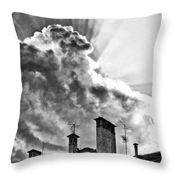 Mid Summer Evening Throw Pillow by Silvia Ganora