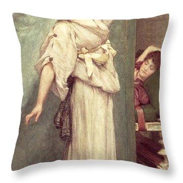 Midday Slumbers  Throw Pillow by Sir Lawrence Alma-Tadema