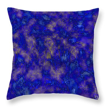 Midnight Magic Throw Pillow by Carol Groenen