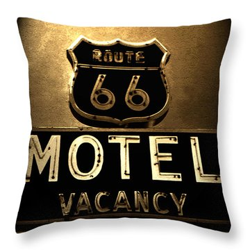 Midnight On 66 Throw Pillow by David Lee Thompson