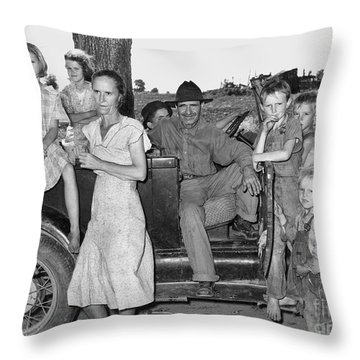 Migrant Workers 1939 Throw Pillow by Granger