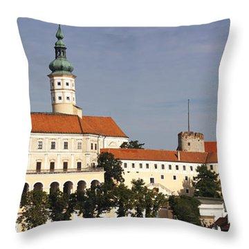 Mikulov Castle Throw Pillow by Michal Boubin