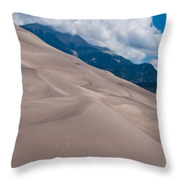 Miles Of Sand Throw Pillow by Colleen Coccia