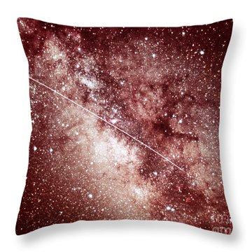 Milky Way In Sagittarius Throw Pillow by Science Source
